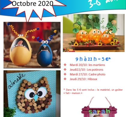 Brico-Kids – Octobre 2020