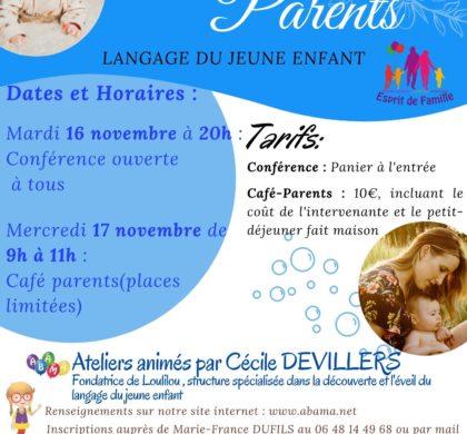 Soirée d'information et café – parents avec l'Association LOULILOU de Reims