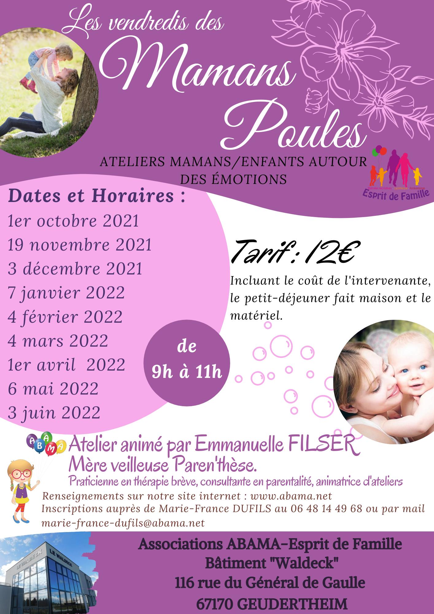 Nouveau : A partir du 1er octobre, venez découvrir avec votre enfant (0/3 ans) nos vendredis des Mamans Poules